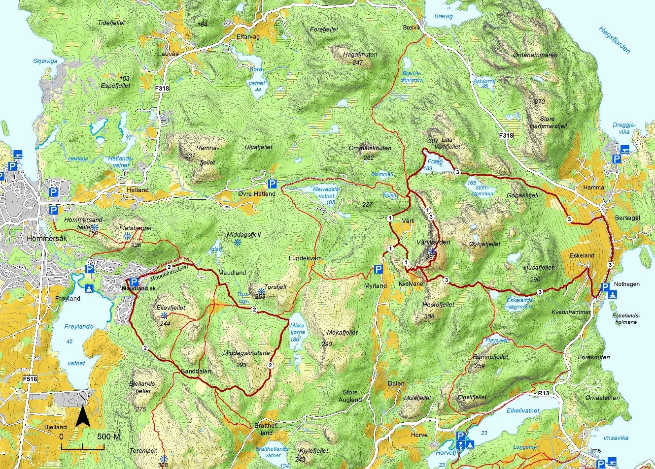 kart over sandnes Sandnes kommune   Turmuligheter kart over sandnes